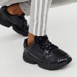 Adidas Falcon Glossy Black Sneakers